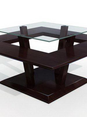 2 Leveled Square Table 3D Model