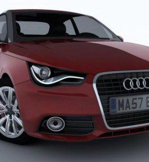 2011 Audi A1 3D Model