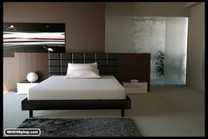 Free scene – Modern bedroom for ciema 4d and also saved as obj