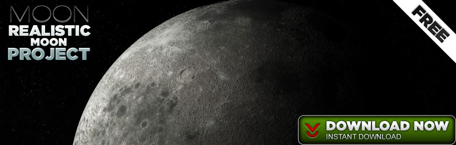 Realistic Moon Scene