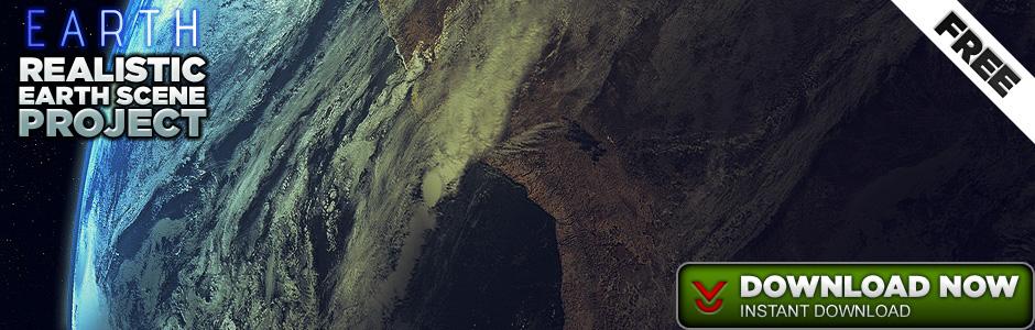 Realistic Earth Scene for Cinema 4D - Free C4D Models