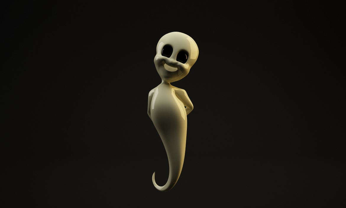 Free Rigged C4D Ghost