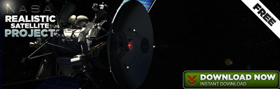 Satellite Cinema 4D Model