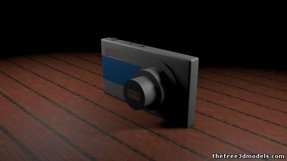 Free Digital Camera 3D Model cinema 4D