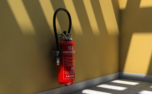 Free Fire extinguisher Cinema 4D model