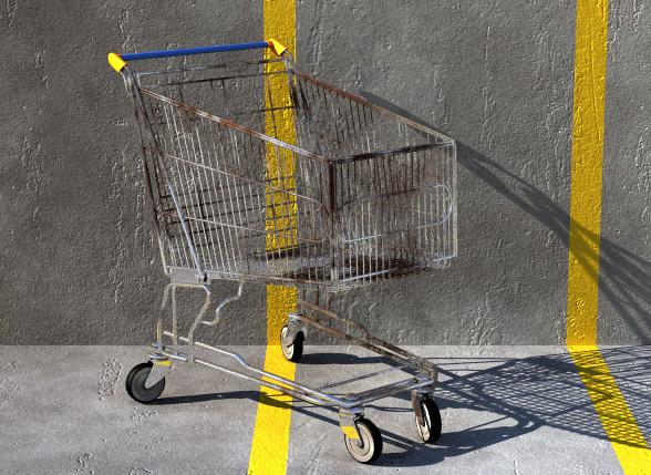 Free Shopping cart 3d model