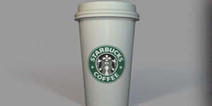 Free Starbucks Cup Cinema 4D model