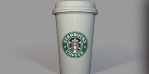 starbucks cup c4d model