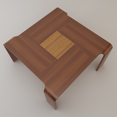 Free Axial Wooden Table