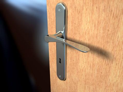 Cinema 4D Door Handle 3D Model
