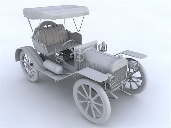 Cinema 4D Old Car 3D Model - Free C4D Models