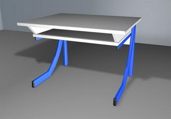 Free Cinema 4D School Desk 3D Model
