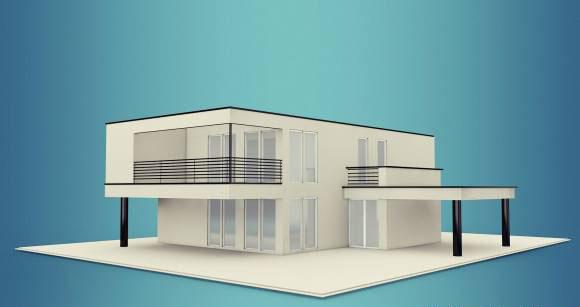 Free C4D Villa 3D Model