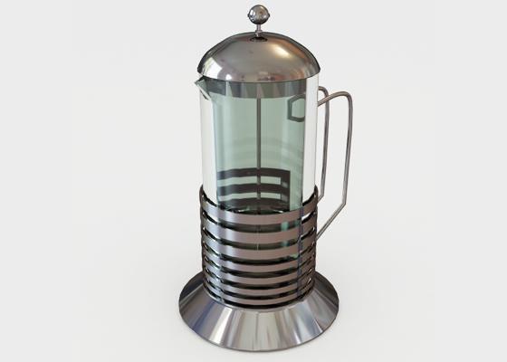 coffee press 3d