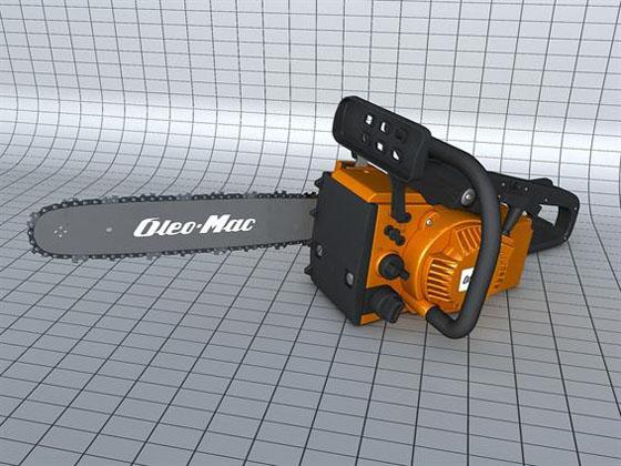 Cinema 4D Free Motor Saw 3D Model