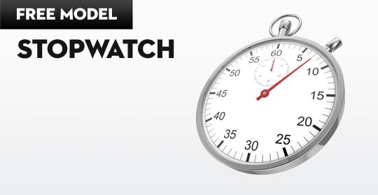 Stopwatch Free Cinema 4D 3D Model