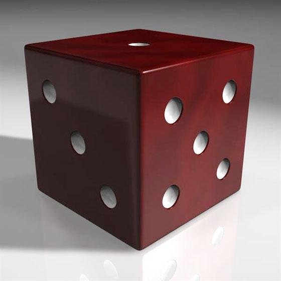 3d casino dice model