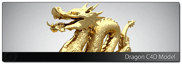 Gold Dragon - Free C4D Models