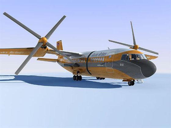 aircraft 3d model Karem TR-53-2