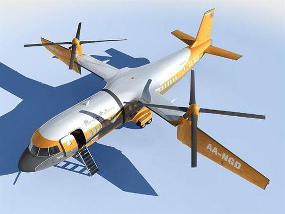 aircraft 3d model Karem TR-53