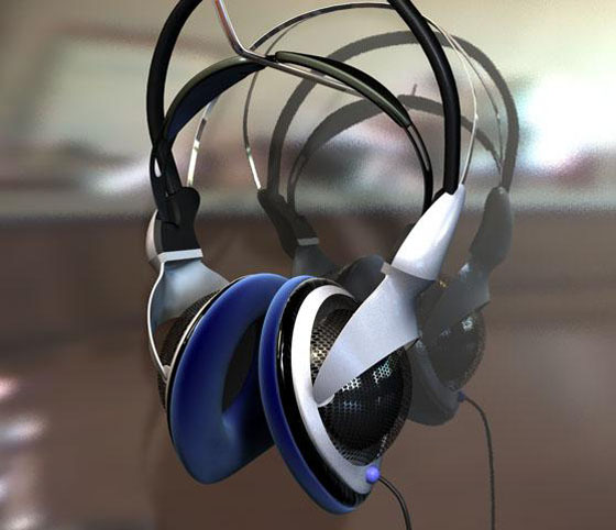 C4D Free Headphones 3D Model