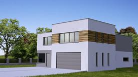 C4D Family house exterior scene