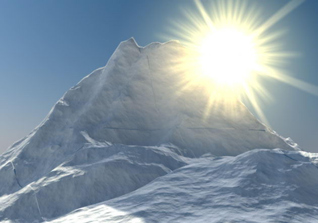 3D Snow Mountain Scene
