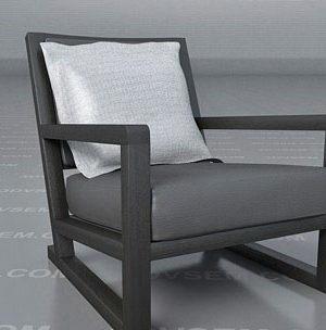 3d Model Grey Armchair