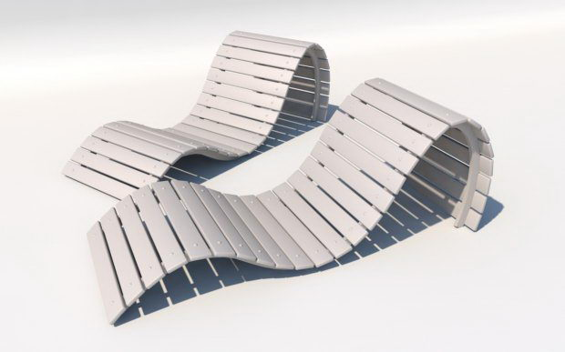 Luxury sun chair 3d model