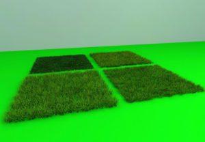4 Turf Grass Set 3D Model