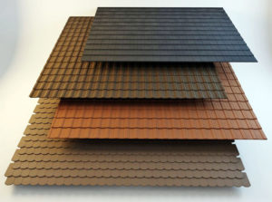 4 Types of Roof Tiles 3D Model