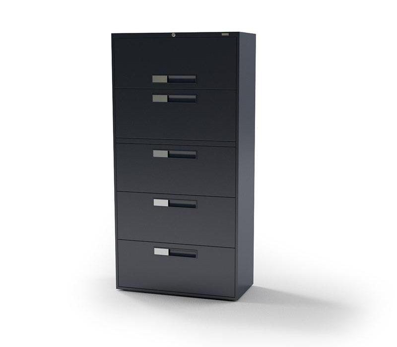 5 Doors Office Cabinet 3D Model