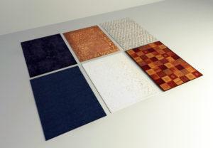 6 Different Carpet Set 3D Models