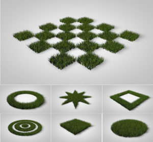 7 Grass Patterns Free 3D Model