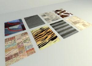 8 Different Carpets Free 3D Model