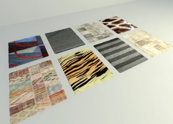 8 Different Carpets Free 3D Model