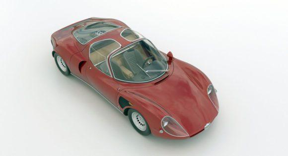 Alfa Romeo Sport Muscle Car 3D Model