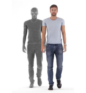 Animated Casual Man Free 3D Model