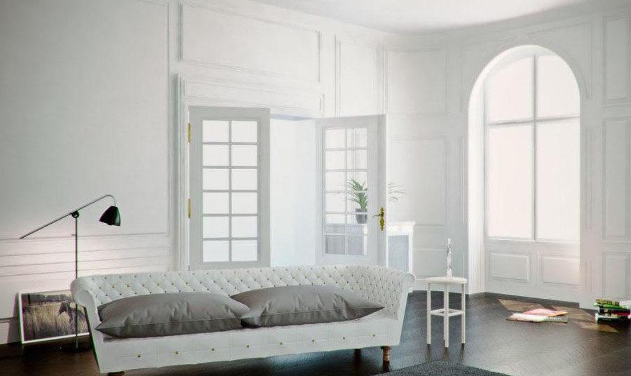 Antique Style Interior Scene For Cinema 4D