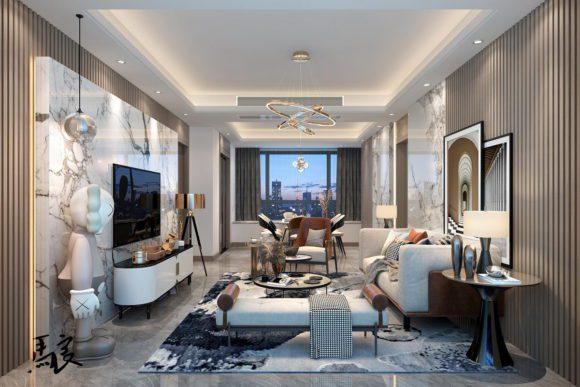 Apartment Living Room 3D Scene