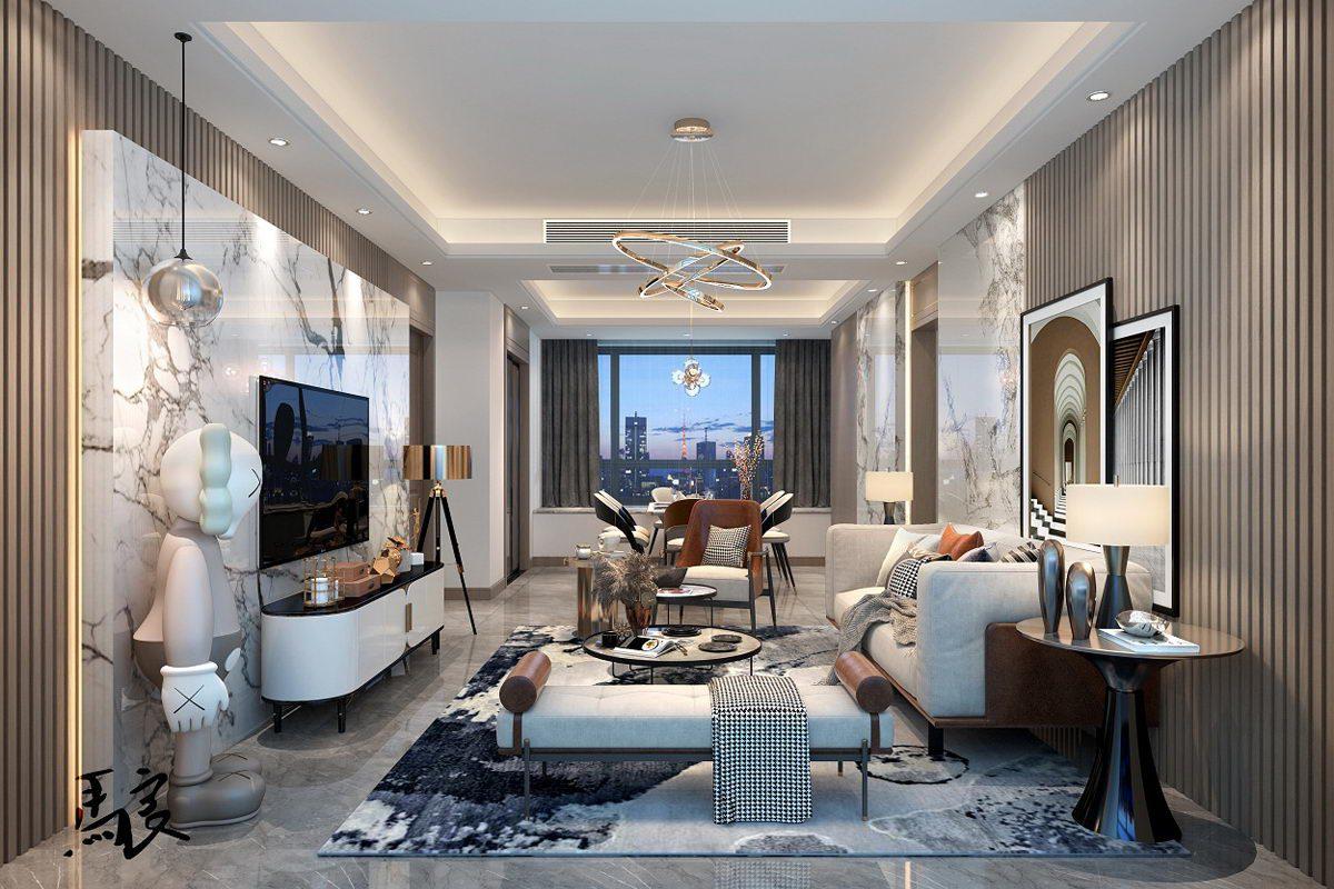 Apartment Living Room 3d Scene Free C4d Models