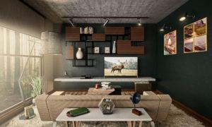 Architectural Interior Scene 3D Model
