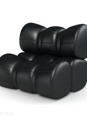 Armchair-Puff 3D Model