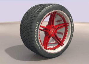 Asanti Car Whell Free 3D Model