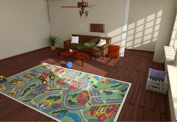 Baby game room 3d model