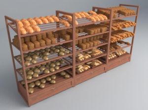 Bakery Shelves Free 3D Model