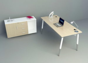 Basic Office Furniture 3D Model