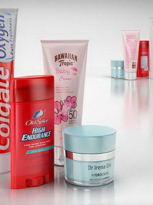 Bathroom Cosmetics 3D Model