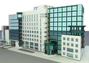 Big Office Building Free 3D Model