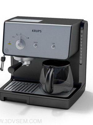 Black Coffee Maker 3D Model